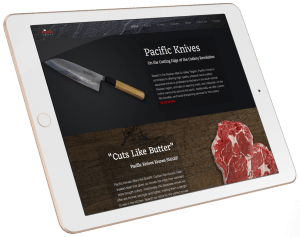Pacific Knives website design by Joey Hatcher